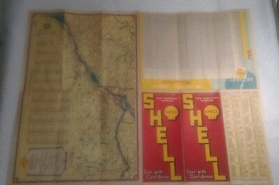 1939.Shell New Hampshire Vermont Quebec Road Map
