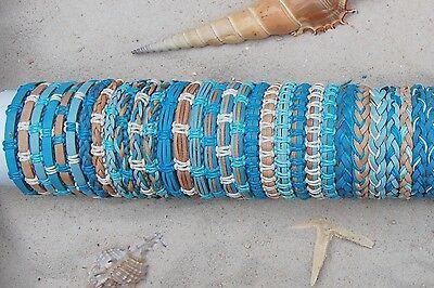 30er Mix Leder Armbänder (b057)  Surferstyle bracelet Ethno Schmuck  Großhandel
