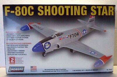 Used, Lindberg  Lockheed F-80 Shooting Star Jet Fighter 1:48 Plastic Model Kit  for sale  Albuquerque