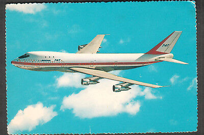 1970 Boeing 747 Superjet post card San Francisco to Rochester NY