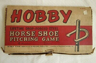 Horse Shoe Game (Vintage Hobby Drop-Forged Steel Horseshoe Pitching Game Heavy 2 Pound Horse)