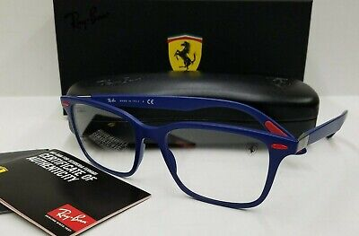 Frames Eyeglasses Ray-Ban Authentic RX7144M Ferrari Blue F604 (Ferrari Eyeglass Frames)