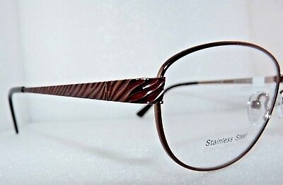 NEW NEW YORK EYE ENHANCE EN3994 BROWN EYEGLASSES GLASSES FRAMES 56-16-140