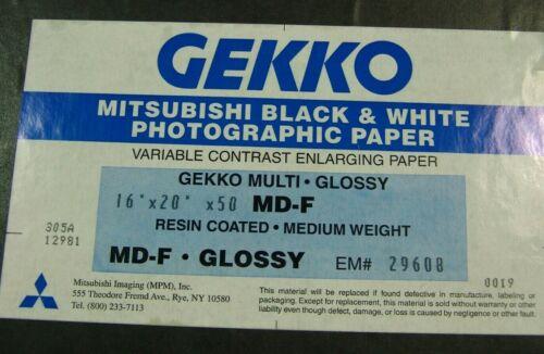 "GEKKO MITSUBISHI Black & White Paper (Glossy, 16 x 20"", 50 Sheets)"