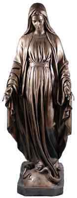 Madonna Della Medaglia Miracolosa Vetroresina Bronzed Cm 120