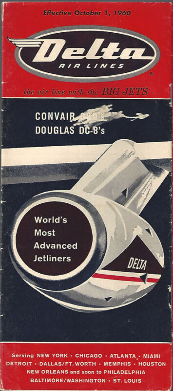Delta Air Lines system timetable 10/1/60 [7124]