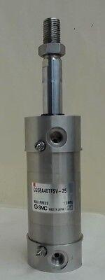 Smc Cg5ba40tfsv-25 Pneumatic Cylinder 1.0 Mpa 1 Stroke 1.740 Od 0.628 Ram