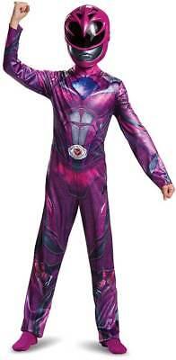 POWER RANGERS PINK CHILDS MOVIE HOT RANGER COSTUME SZ 7+ LARGE NEW GIRL COSPLAY (Hot Power Girl Kostüm)