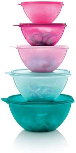 Tupperware Wonderlier Classic Bowl 5 pc Set  Nesting Storage New