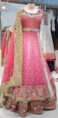 Pink bridal lehenga lengha ghagra sari saree India wedding choli