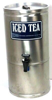 Vintage Cecilware S-3 Iced Tea Dispenser 3 Gallon Stainless Steel