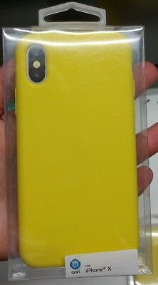 Case for Apple iPhone X Solid Color - Yellow Black Blue Magenta Teal Pink ONN