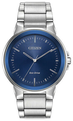 Citizen Eco-Drive Men's Axiom Blue Dial Bracelet 41mm Watch BJ6510-51L