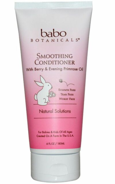 NEW BABO BOTANICALS SMOOTHING CONDITIONER BERRY & EVENING PRIMEROSE KIDS HAIR