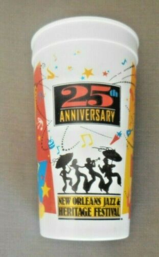 VINTAGE & RARE 1994 NEW ORLEANS JAZZ FESTIVAL 25TH ANNIVERSARY OLD PLASTIC CUP
