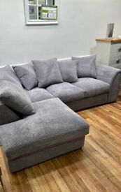 BRAND NEW DYLAN BROKEN CORD CORNER OR 3+2 SEATER SOFA SET AVAILABLE IN STOCK ORDER NOW