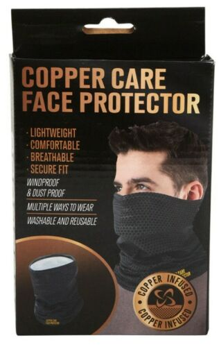 Copper Infused Face Gaiter Polyester Cover Breathable Mask Washable