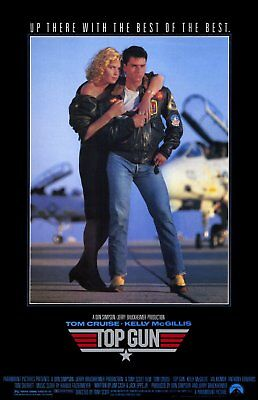 """Original """"Top Gun"""" Movie Poster 1986 Mint condition 17"""" x 24"""" (Hand out poster)"""