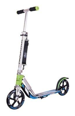 Hudora Big Wheel 205 grün/blau Scooter Roller extra große Räder 14750/01