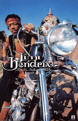 JIMI HENDRIX SOUTH SATURN DELTA MOTORCYCLE POSTER 22x34 NEW FREE SHIP