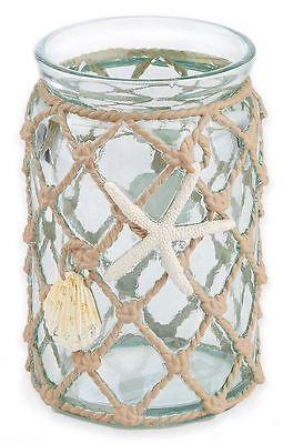 Sea Shell Net Tumbler Bath Cup Fun Bathroom Decor Toothbrush Toothpaste Holder