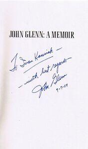 ASTRONAUT JOHN GLENN AUTOG HIS BOOK 3 TIMES London Ontario image 2