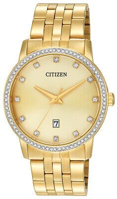 Citizen Men's Quartz Crystal Accent Gold-Tone Bracelet 40mm Watch BI5032-56P