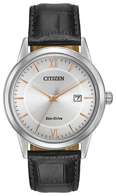 Eco Drive Rose - Citizen Eco Drive Men's Grey Dial Rose Gold Tone Markers 40mm Watch AW1236-03A