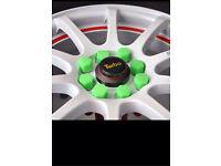 Wheel Nut / Bolt covers Lug Hole covers Corsa Astra SRI VXR Focus Fiesta RS ST Zetec CDTI Seat FR