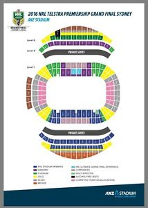 NRL Grand Final - 2x Diamond Seat Tickets Naremburn Willoughby Area Preview