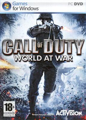 CALL OF DUTY : WORLD AT WAR / JEU PC / NEUF...