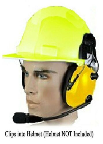 Pryme HBB-EM-HMY Construction Hard Hat Dual Muff Yellow Headset (Requires KCord)