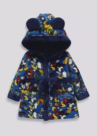 Kids Mickey Mouse Dressing Gown (3mths-4yrs)