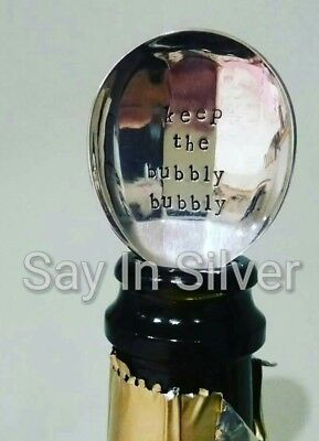 Keep Bubbly spoon prosseco champagne proposal engagement wedding new years eve