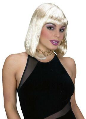 Blonde Tinsel Bob Wig With Bangs Sexy Costume Wig](Tinsel Wigs)