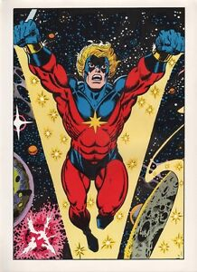 Vintage-1978-CAPTAIN-MARVEL-Pin-up-Poster-Marvel