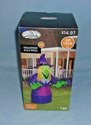 Gemmy Airblown Inflatable Halloween Decoration Scary Witch 4 Ft MIB
