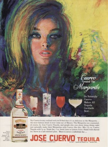 Vintage 1968 Jose Cuervo Tequila Original Print Ad
