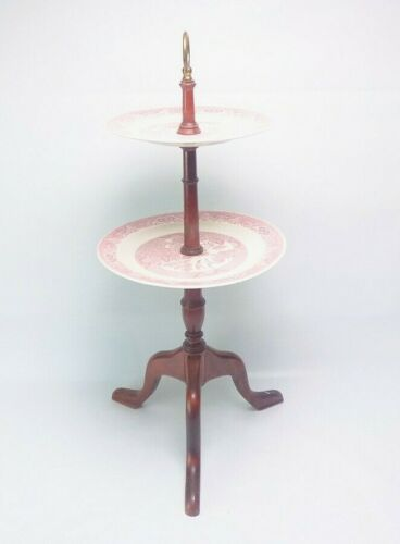 Vintage Pink Willow Ware by Royal China 2 Plate Table. Excellent Condition!