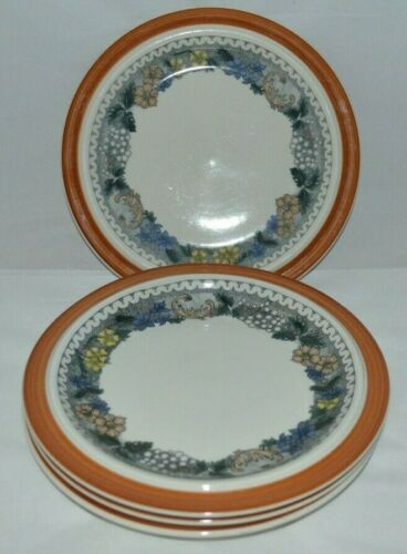 Set Of (4) Goebel Country Burgund Salad Plates Bavaria- Germany-Oeslauer