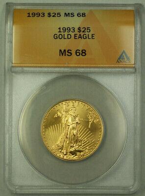 1993 25 American Gold Eagle Coin AGE 1/2 Oz ANACS MS-68 - $950.00