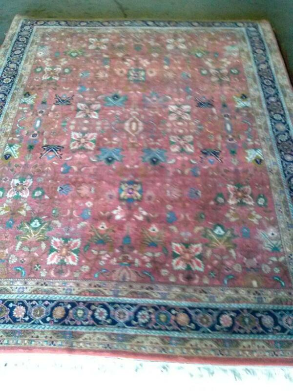 "Beautiful HandKnotted Wool Rug approx. 8'x10' ""Benefit American Cancer Society"""