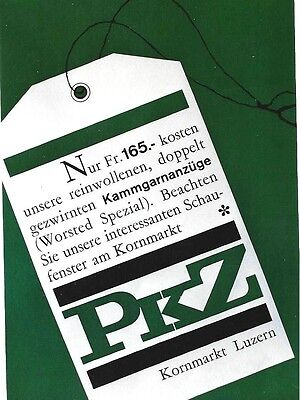 Original vintage poster PKZ MENS FASHION DRESS LABEL 1962