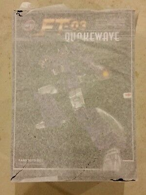 Fanstoys Fans Toys Quakewave Quake Wave Masterpiece Transformers Shockwave FT-03 for sale  Shipping to Canada