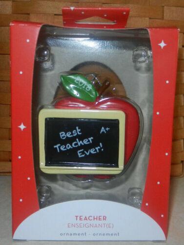 American Greetings 2018 Best Teacher Ever Apple Christmas Ornament