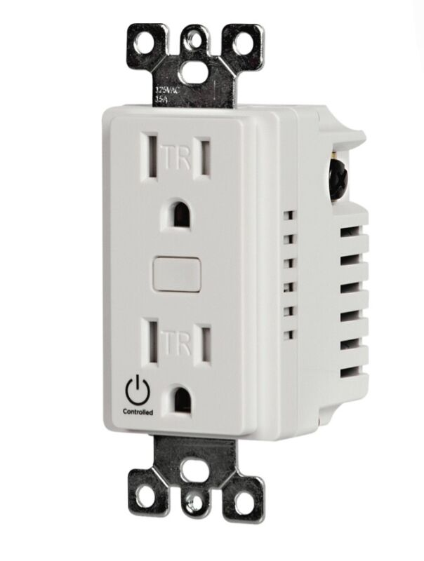 Brand New: Control4 Receptacle Outlet Switch - Snow White C4-V-ROSW120-SW Zigbee