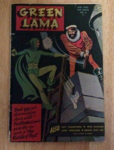 GREEN LAMA #3 SOLID G/VG 1945 SPARK PUB.LT.HERCULES,MAC RABOY,ANGUS MAC ERC