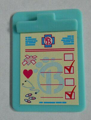 Barbie Doll Pet Doctor Medical Clip Board Chart Mini Diorama Farm Animal Vet Acc - $2.99