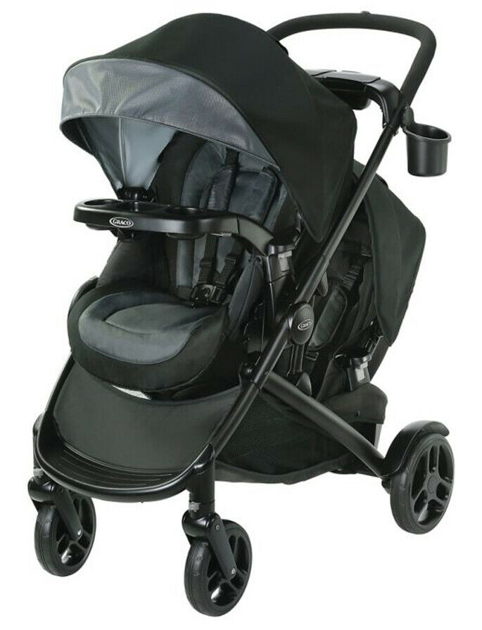 Graco Baby Modes2Grow Double Stroller w/ Basket Hold Spencer