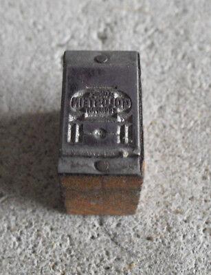 Vintage Goldstein Company Truck Wood Metal Letterpress Print Block Stamp
